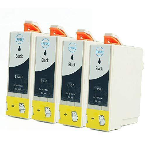 LXXA Cartucho de Tinta Compatible EPSON T1371, Reemplazo Negro y Color para Epson T1371 para Usar con la Impresora Epson K205 K305 K100 K200 K105