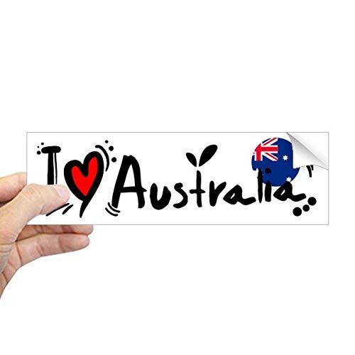 DIYthinker Ik hou van Australië Wereld Vlag Hart Rechthoek Bumper Sticker Notebook Window Decal