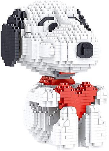 RSVT Mini Bloques De Diamantes Amor Snoopy 3D Modelo Modelo Kit De Construcción DIY Modelo De Juguete Ladrillo para Niños Niño