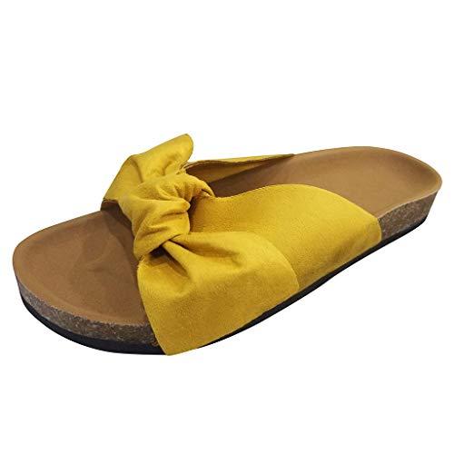 HROIJSL Flip Flops Damen Sommer Hausschuhe Plateau Peep Toe hoch Espadrilles Zehentrenner Sandalen knöchelstützen Anti-Rutsch Dusche Badeschuhe Schlappen rutschfest Pantoffeln Gartenschuhe