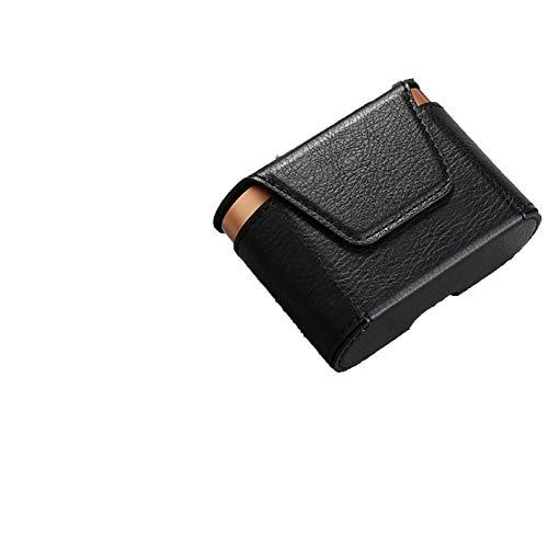 SHEAWA Magnetische Leder-Schutzhülle für Kopfhörer Sony WF-1000XM3 Headset-Tasche (schwarz)