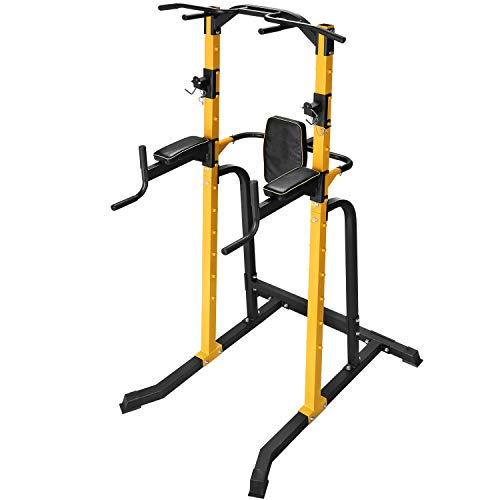 ZENOVA Power Tower Multi-Function Home Strength Training Tower Dip Stands