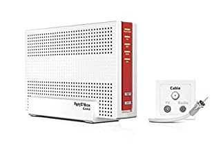 AVM Fritz!Box 6591 Routeur Wi-FI AC + N (Modem de câble DOCSIS-3.1, Double WiFi AC+N (MU-MIMO) avec 1733 (5 GHz) + 800 Mbit/s (2,4 GHz), système téléphonique VoIP (B07R74THC4) | Amazon price tracker / tracking, Amazon price history charts, Amazon price watches, Amazon price drop alerts