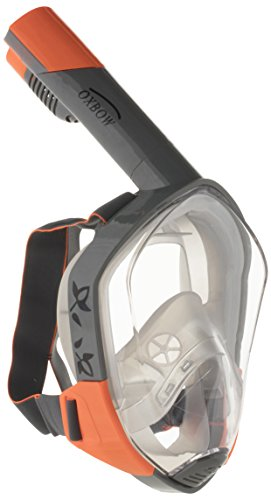Oxbow Visio 'n' Air panorámico Máscara 3Generación Snorkel Máscara, Unisex, VISIO-n-Air Panoramamaske 3 Generation, Antracita, Large/Extra-Large