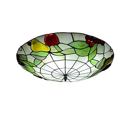 Lámpara de Techo, Lámpara de Techo mediterránea, Pasillo Pasillo Lámpara Tiffany Lámpara de Techo Creativa Lámpara de Techo LED para Dormitorio, 12 Pulgadas (30 cm) de luz