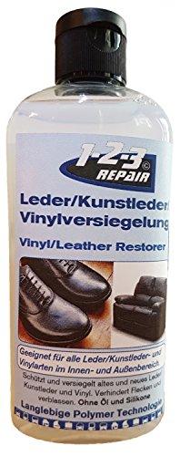 1-2-3 REPAIR Cuidado Cuero, Cuidado Sofas Silla de Montar | Sellador Limpiador Cuero Universal