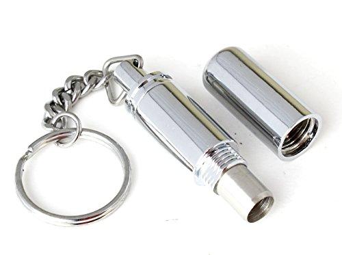 Cigar Punch Keychain Polish Silver Twist Cut - Bullet Style Punch 7 mm Hole