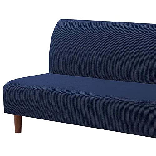 Funda para Sofá Cama sin Brazos, Cubierta de Sofá Cama Elástica Plegable sin Reposabrazos, Protector para Futón Couch Bench de Plazas/3 Plazas (Color : I, Size : 135-155CM/53-61'')