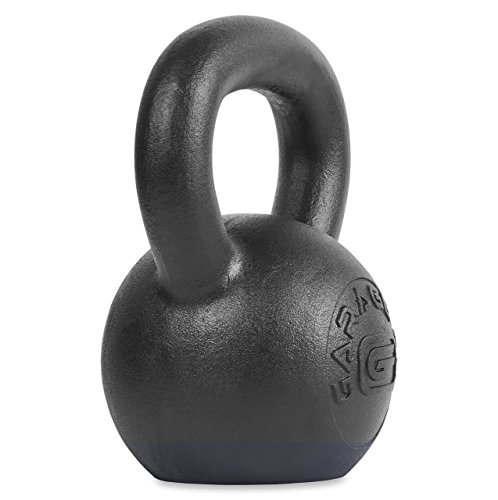 Garage Fit Pulverbeschichtete Kettlebells LB KG Markings - Krafttraining, Funktionelle Fitness, Plyometrie, 10kg / 22 lbs