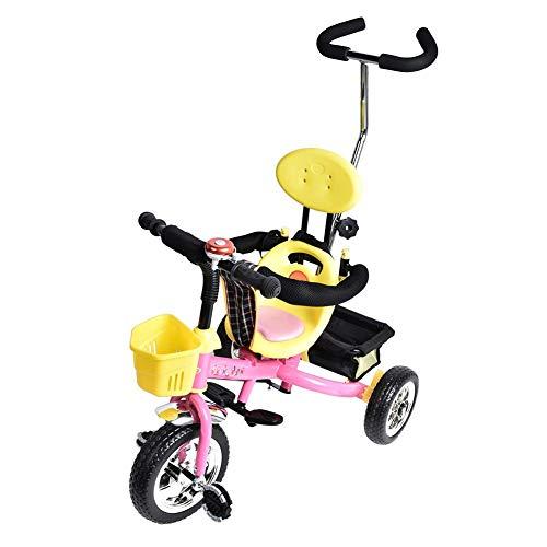 Kinderen Trolley rijden Trike, Kinder driewieler kar Baby Trike achterwiel voetrem driewieler rijden Car Trolley voor kinderen