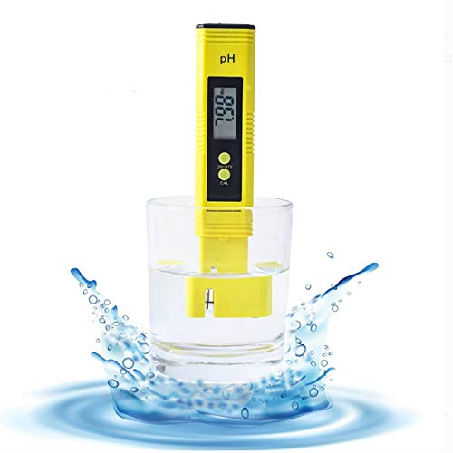 Digital PH Meter Water Quality Tester for Food Brewing Hydroponics Aquarium RO System Pools, 0-14PH Automatic Temperature Compensation 0.01pH Accuracy, 0-60 Celsius, 3 Pack with Calibration Solution