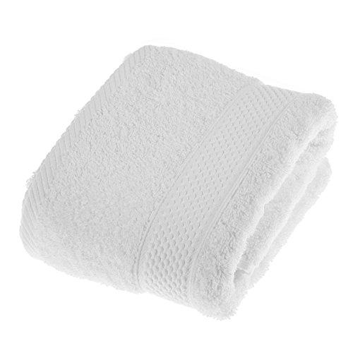 HOMESCAPES Toalla de Manos, 100% algodón Turco Absorbente y Suave, Color Blanco 50 x 90 cm