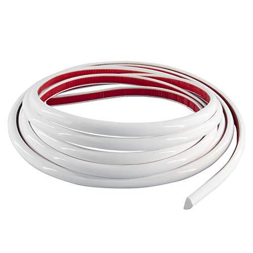 Neatiease Zierleisten Sparpaket, selbstklebend,Fliesenkantenleiste, abziehen und aufkleben, Fliesenleiste für Küche und Badezimmer, flexible Wandverkleidung (4,9m weiß)