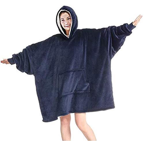 Huggle - Sudadera con capucha de gran tamaño, supersuave, cálida, cómoda manta con capucha, talla única para todos los hombres, mujeres, niñas, niños