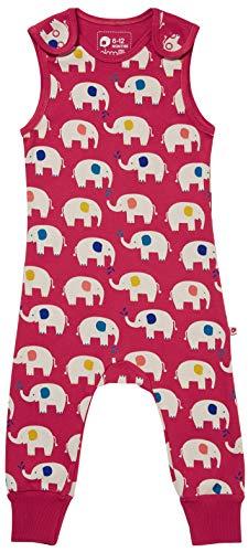 Piccalilly Salopette en jersey doux pour bébé et tout-petit, unisexe Éléphant rouge, coton biologique - Rouge - 3 ans