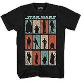 Find Me Luke Vader Yoda Chewie Boba Fett Han Solo Leia Ewok Movie Skywalker Adult Men's Graphic Tee T-Shirt (Black, Large)