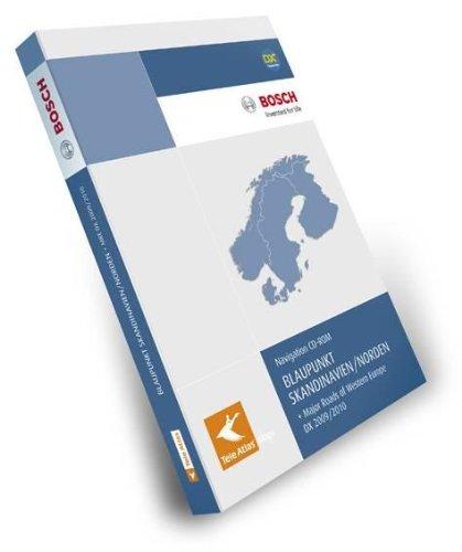 TeleAtlas Blaupunkt Skandinavien/Norden 2009/2010 DX mit Hauptverkehrsstrassen Europas für TravelPilot DX-Plattform
