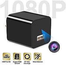 Mini Camera USB Charger Camera 1080P HD Motion Detection USB Plug Wall Charger Camera Mini Nanny Cam Security Camera No Wi-Fi Needed