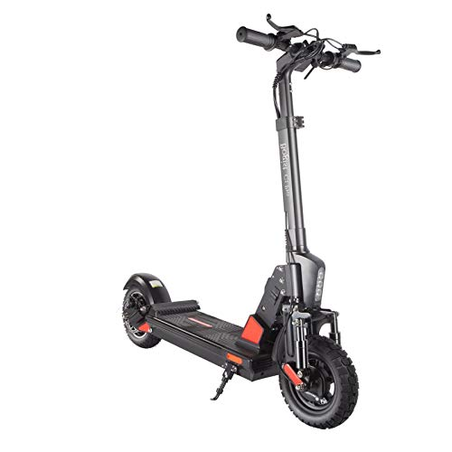 GQQG Patinete Eléctrico para Adultos, Scooter Electric Plegable Velocidad Patinete Eléctrico con Luz LED / 45 km/h/ 500W Motor, Pantalla LCD, Impermeable IP64 (Negro)