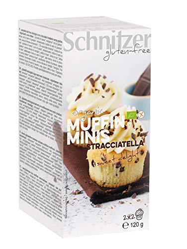 Schnitzer GLUTENFREE Mini Muffins Stracciatella glutenfrei, 6er Pack (6 x 120 g)