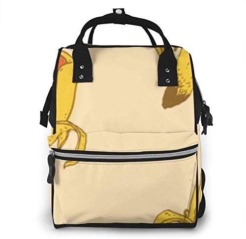 Banana Hot Dog Diaper Bags Fashion Mummy Backpack Multi Functions Large Capacity Nappy Bag Nursing Bag for Baby Care for Traveling