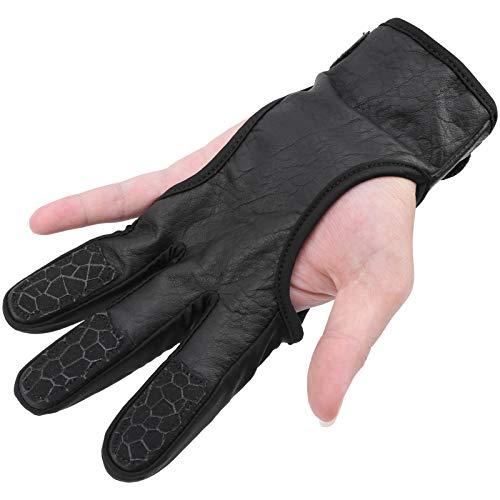 logozoee Protector de Dedos de Tiro, Protector de Dedos de Tiro con Arco, Transpirable Resistente al Desgaste para Disparar, Uso en Exteriores(,L/XL)