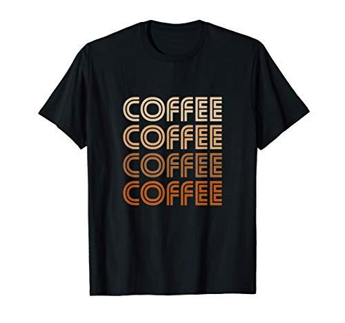 Kaffee Liebhaber Kaffee Trinken Retro Schrift T-Shirt