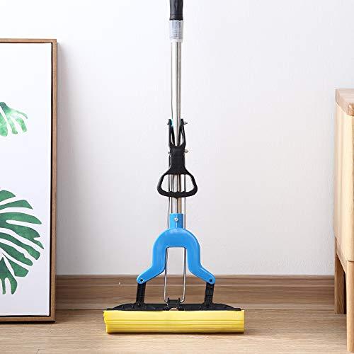 ZCXBHD Sponge Mop Set met zuigkrachtige sponskop, telescopisch staal