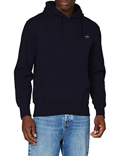 Superdry Mens Collective Hood BR Sweater, Deep Navy, Large