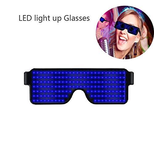 KOBWA Gafas de Luminosas LED Neon Iluminar Gafas con 8 Modos para Fiesta de Cumplea/ños de Navidad