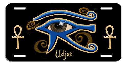 Yilooom Egyptian Eye of Ra Udjat Auto License Plate Personalize Gifts 6 X 12 Inch