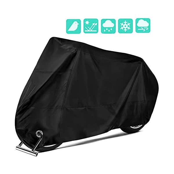 OVERWIND Motorcycle Cover, 190T Nylon Waterproof Motorbike Dust Cover – Anti...