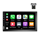 Double Din car Stereo 7 inch Touch Screen Car Radio with Bluetooth FM, with USB/AUX/SD Card Input, Android &...