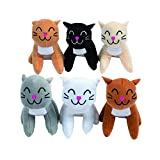 Fun Express Realistic Plush Cats (1 dozen)-Toys-Party Favors