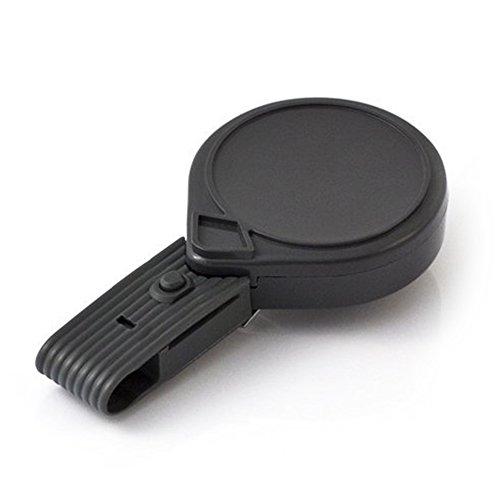 KEY-BAK 0054-015 Mini-BAK Porte-badge rétractable sans torsion avec cordon en nylon 36 cm, clip ceinture en acier, gris,