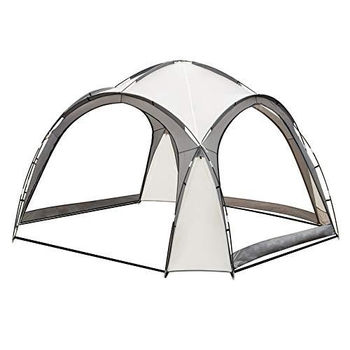 SANHENG Camping Gazebo, Dome Shelter 3.5m x 3.5m Event Marquee Gazebo Sun Shade (Beige)