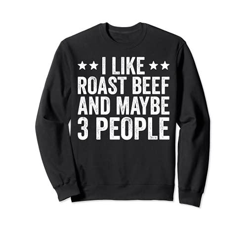 Me gusta la carne asada y tal vez 3 personas barbacoa divertida barbacoa Sudadera