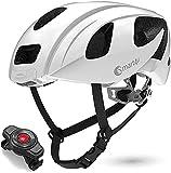 Smart4U Smart Helm mit LED-Rücklicht und Blinker, SOS-Alarm, Bluetooth-Telefon mit Einer Taste Antwort Fahrradhelm, zertifizierter komfortabler Fahrradhelm-SH55M