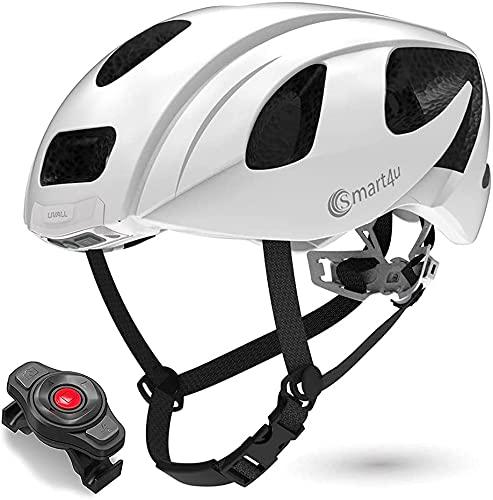 Smart4U Smart Helm mit LED-Rücklicht und Blinker, SOS-Alarm, Bluetooth-Telefon...