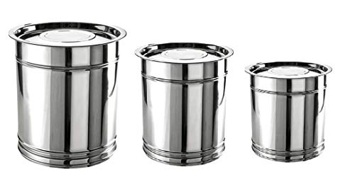 Kanshita's Rasoiware Stainless Steel Pawali/Tanki/Drums (15kg,20kg & 25kg)
