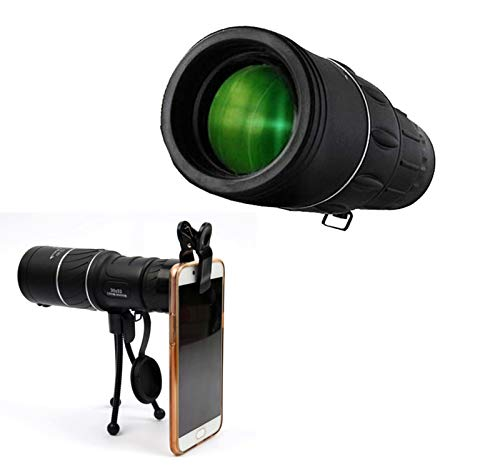 Monocular Telescope, 40X60 HD Monocular Binoculars with Smartphone Holder & Tripod Prism for Bird Watching, Hunting, Surveillance, Hiking (Black iii)