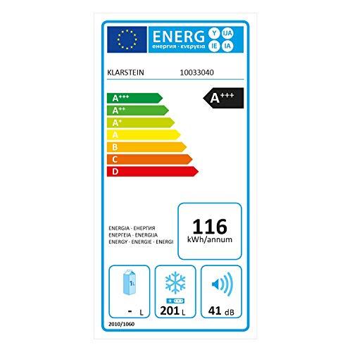 Klarstein Iceblokk Eco Chest Freezer – Freezer, 3-Star Freezer, 200 litres, 49 W, 2 x Removable Hanging Basket, LED…