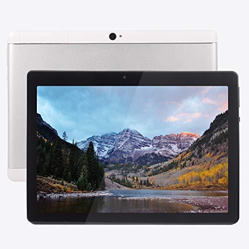 Android Tablet 10 Zoll Android 8.1 OS, 3G Unlocked Tablet mit Zwei SIM-Kartensteckplätzen, FHD-IPS-Bildschirm, 4 GB RAM, 64 GB ROM, Quad Core, 2,0 MP Vorder- + 5,0 MP Rückkamera, Bluetooth, GPS S
