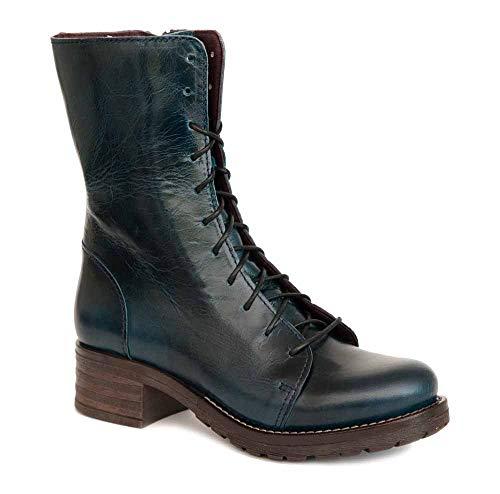 Brako Stiefel Boots 8470 Bolero Blue Military Leder blau m. Reißverschluss (40 EU)