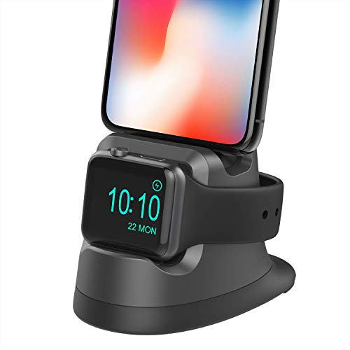 Cereecoo Charging Stand for iWatch 4, Charging Docks Station for iPhone Holder for Apple Watch Series 4/3/2/1/ AirPods/iPhone X/Xs/8/7/6S/5(Under 4.7 inchs)