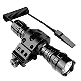 Feyachi FL9 Tactical Flashlight 900 Lumen Picatinny Rail Mounted Weapon Light with Pressure Switch and Rechargeable Batteries