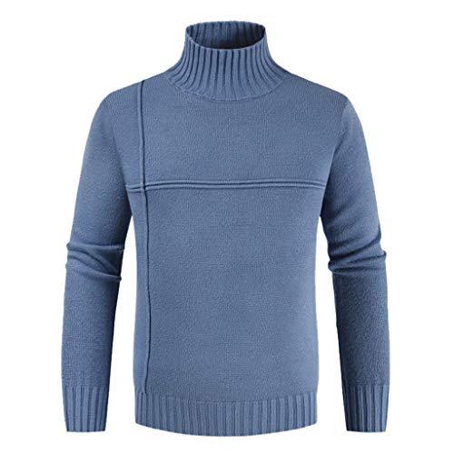 Männer Rollkragenpullover Warm Herbst Winter Pullover Strickpullover Herren einfarbig Casual Langarm Tops CICIYONER