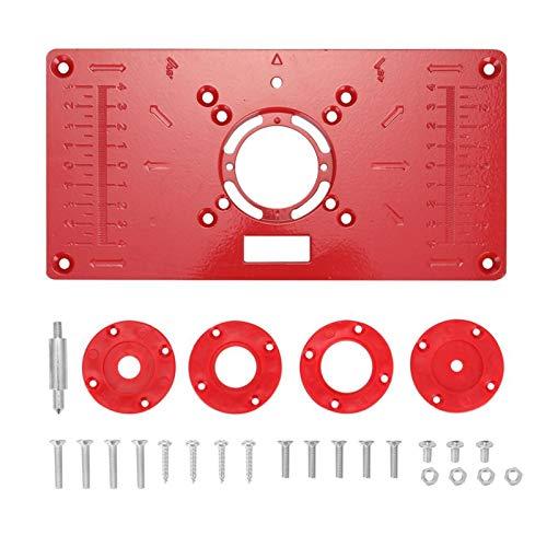 flygogo Multifunktionale Aluminium-Router-Tisch-Einsatz-Platte Holzbearbeitungsbänke Holz-Router-Trimmer-Modelle Graviermaschine Flip-Tafel (Color : Type1)