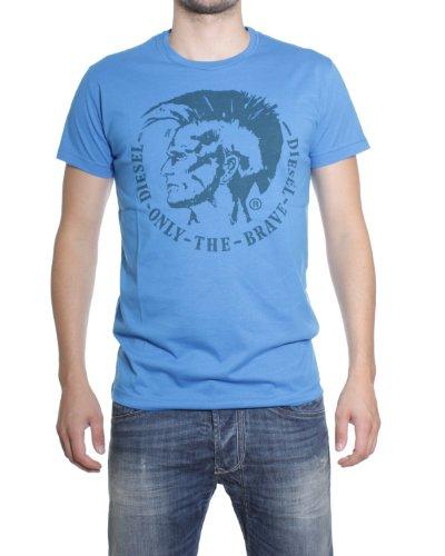 Diesel Camiseta Hombre M Azul 00CWCS-00JTS