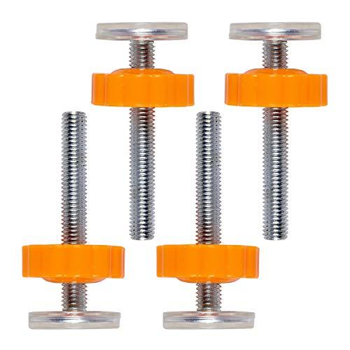 COSORO M10 ciśnienie bramy dla niemowląt gwintowane pręty wrzeciona spacer przez bramy akcesoria śruby śrubowe (4 szt. pręty wrzeciona)